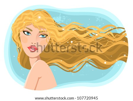 girl with wavy hair