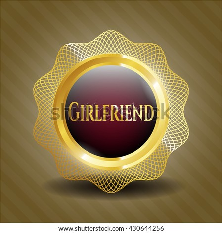 Girlfriend gold shiny badge