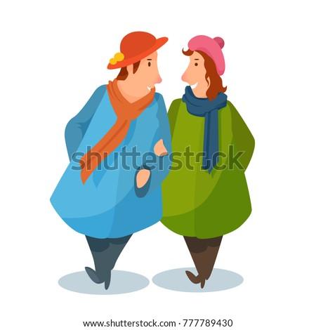 girlfriends in a coat talking