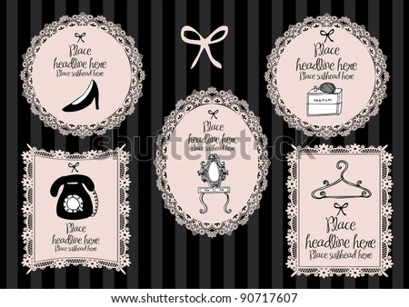 girlie borders vector illustration