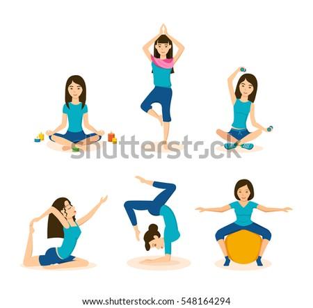 girls doing yoga and meditation