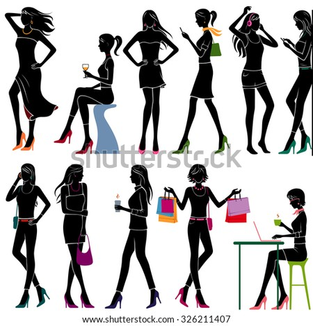 girls in different poses