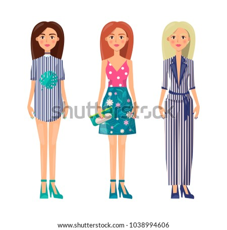 girls in stylish summer clothes