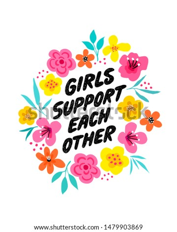 girls support each other   hand