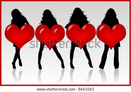 Girls With Heart , vector work