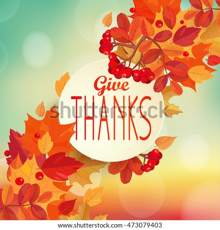 give thanks   autumn background