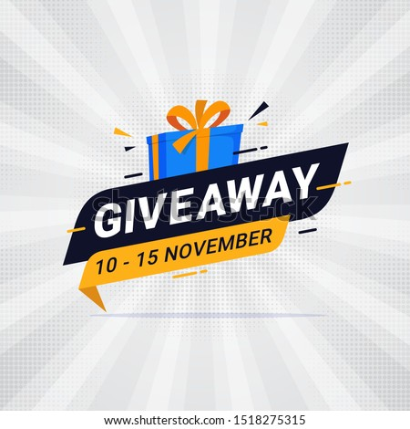Giveaway banner template design for social media post