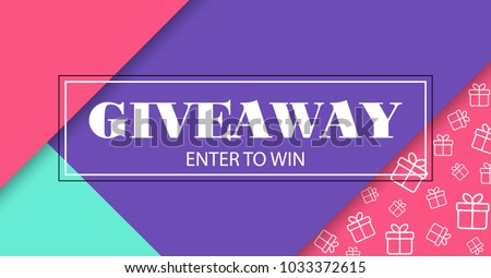 Giveaway. Enter to win. Vector banner with frame