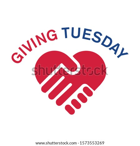 Giving Tuesday, global day of charitable giving. Charity campaign banner design, vector illustration