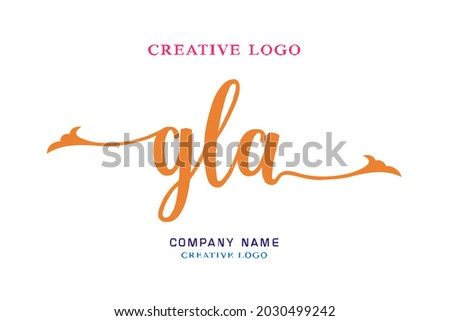 GLA lettering logo is simple, easy to understand and authoritative Photo stock ©