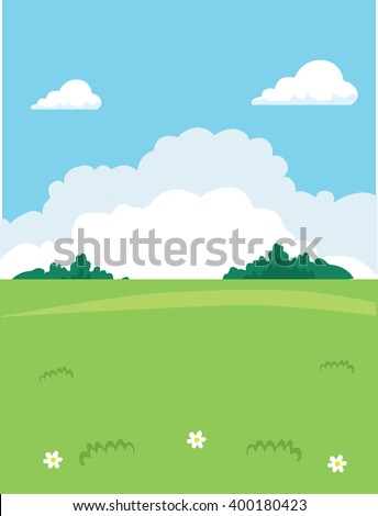 glade meadow nature vector
