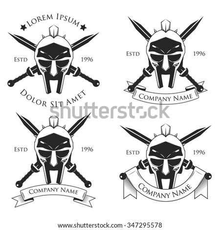 gladiator badge  logo vector