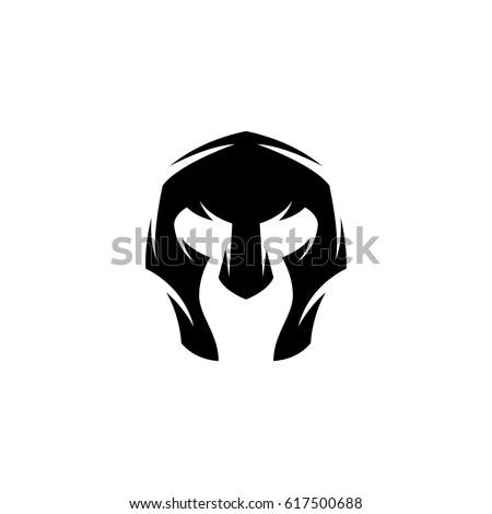 gladiator helmet icon vector