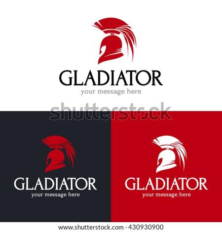 gladiator helmet logo design