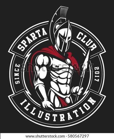 gladiator logo on black