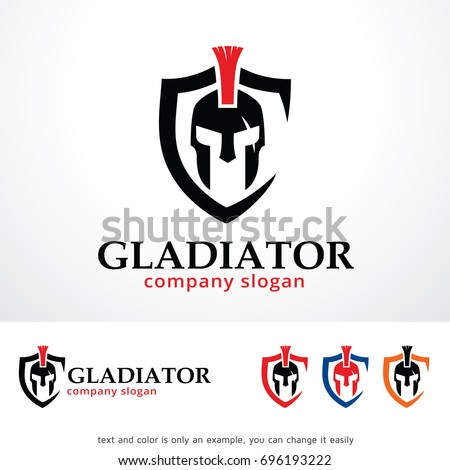 gladiator logo template design