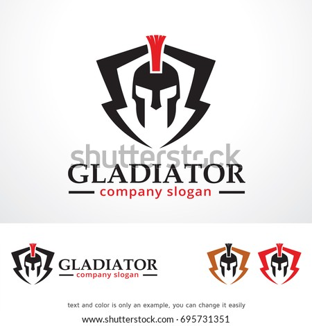 gladiator logo template design