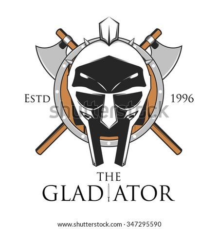 Gladiator shield vector