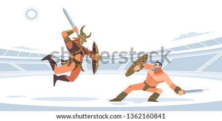 gladiatorial fight thracian vs