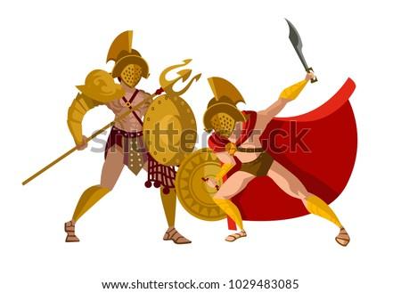 gladiators fight clash