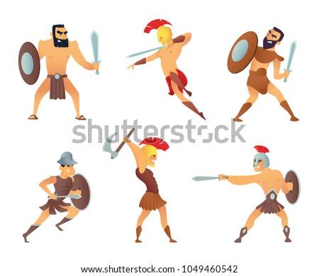 gladiators holding swords