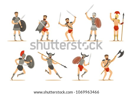 gladiators of roman empire era