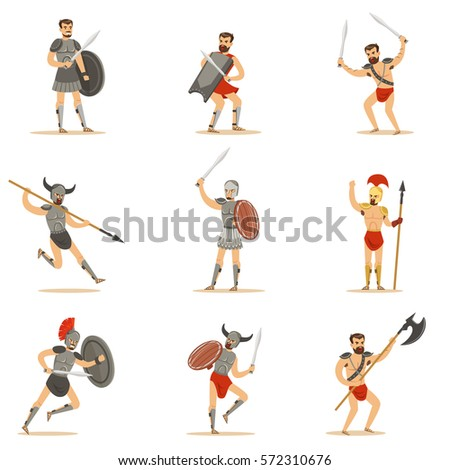 gladiators of roman empire era