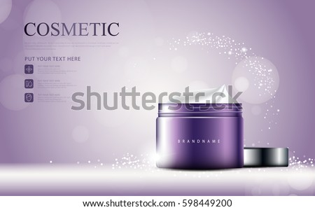 glamorous cosmetic ads  facial