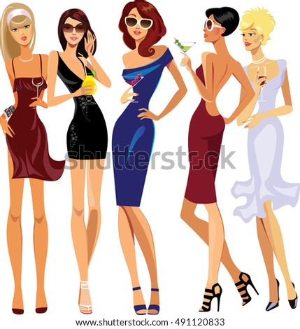 glamorous lady cocktail  party
