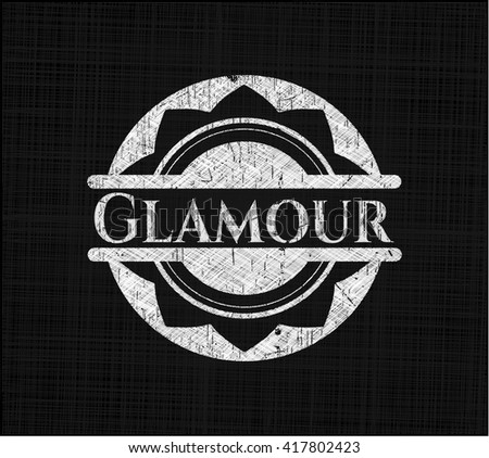 Glamour chalk emblem