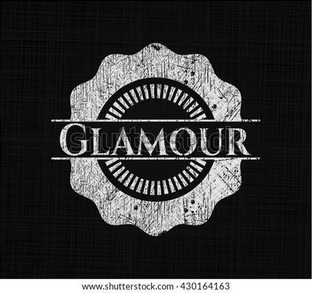 Glamour chalk emblem written on a blackboard