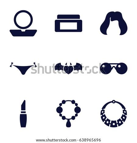 glamour icons set set of 9