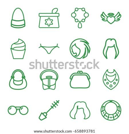 glamour icons set set of 16