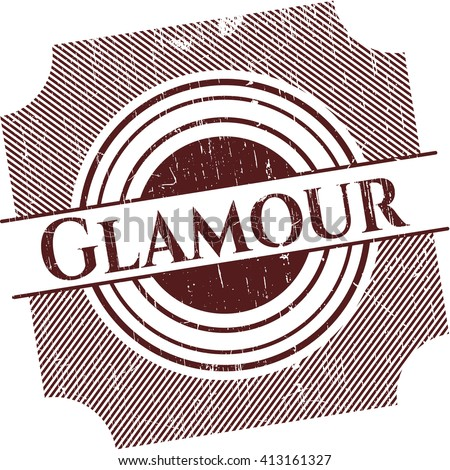 Glamour rubber seal with grunge texture