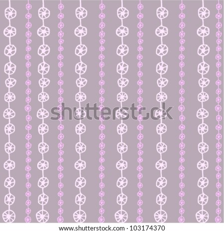 Glamour seamless vertical background with purple and pink hand drawn circles. (vector)
