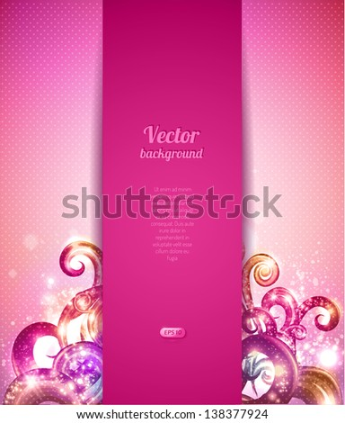 glamour vector background with