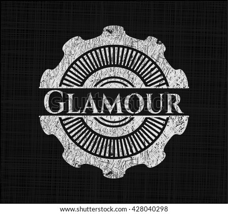 Glamour with chalkboard texture