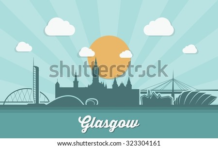 glasgow skyline   vector