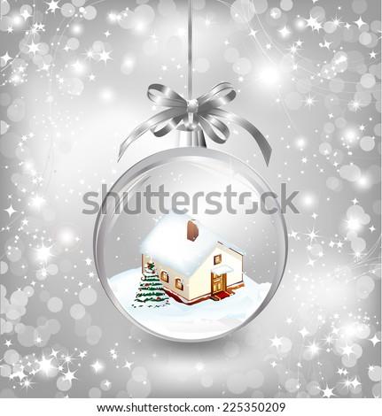 glass ball christmas with a