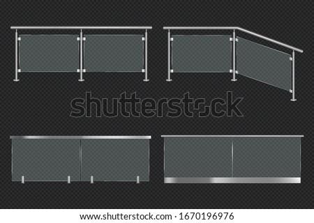 glass balustrade with iron