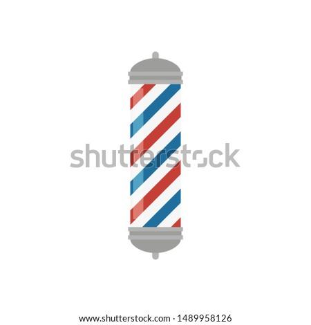 glass barber shop pole, old barbers rail, flat