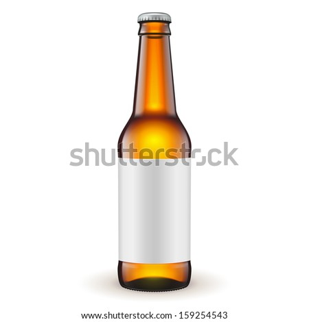 glass beer brown bottle with