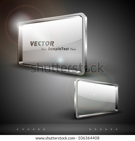 Glass billboard or banners, isolated on grey background. EPS 10.