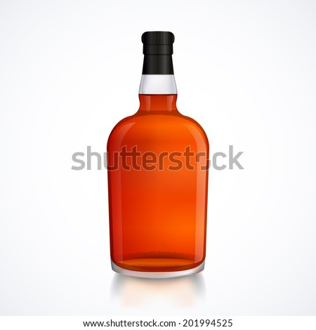 glass bottle of alcohol drink