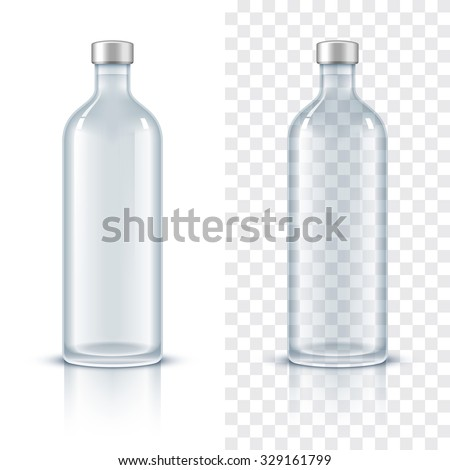 glass bottle of alcohol