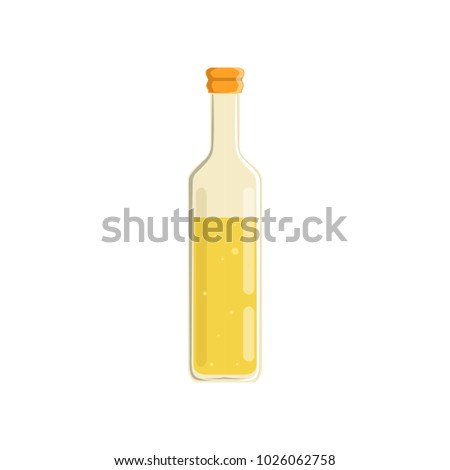 Glass bottle of oil vector Illustration #1026062758
