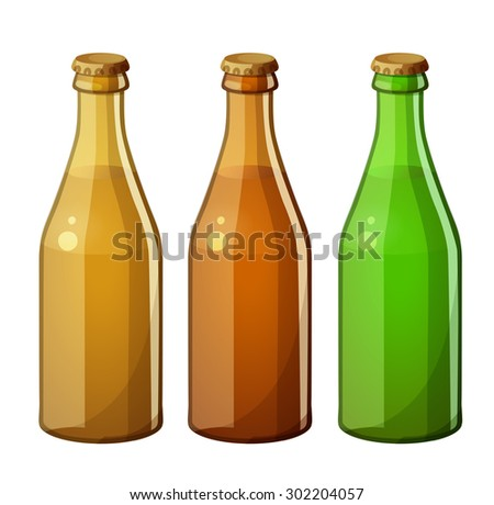glass bottles without label