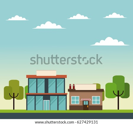 glass building commercial store