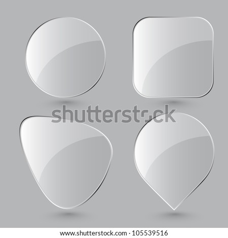 Glass buttons. Vector illustration. Eps8.