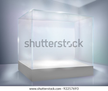 Glass-case. Vector illustration.